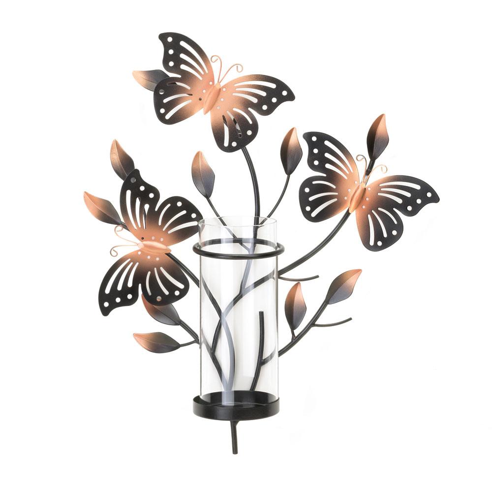 Fluttering Butterfly Wall Candleholder