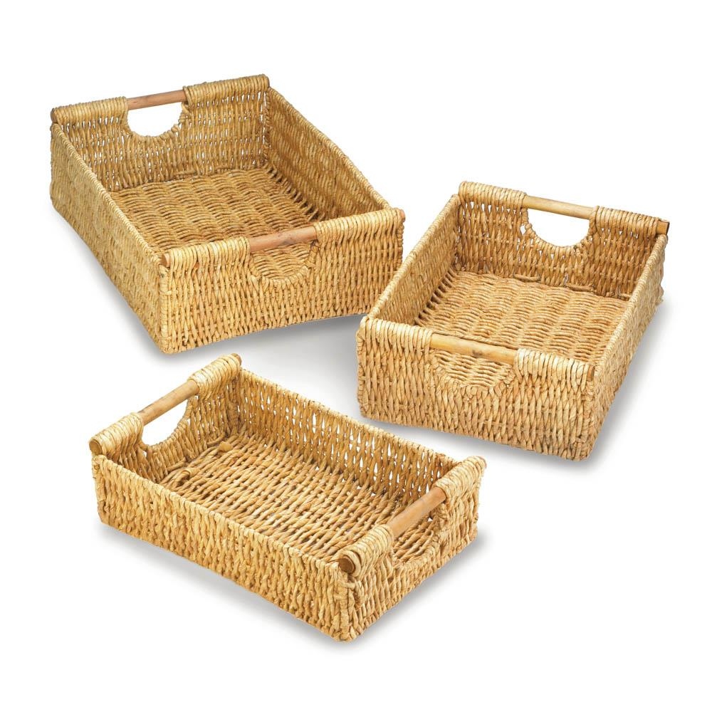 Maize nesting basket set sku 10017945 home decor - Sullivans wholesale home decor set ...