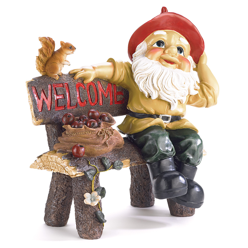 Gnome Garden: Garden Gnome Greeting Sign