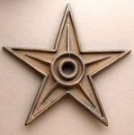 Cast Iron Star - Center Hole X-Large Set of 6