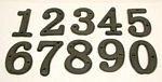Solid Cast Iron Number 0 - 9 Set 10