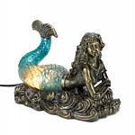 Gorgeous Blue And Amber Mermaid Lamp