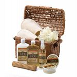 Vanilla Scented Bath And Body Basket Set