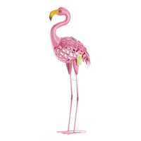 Standing Tall Solar Flamingo Statue