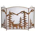 Rustic Forest Fireplace Screen SKU 12295