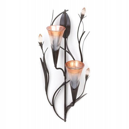 Dawn Lily Double Candle Wall Sconce
