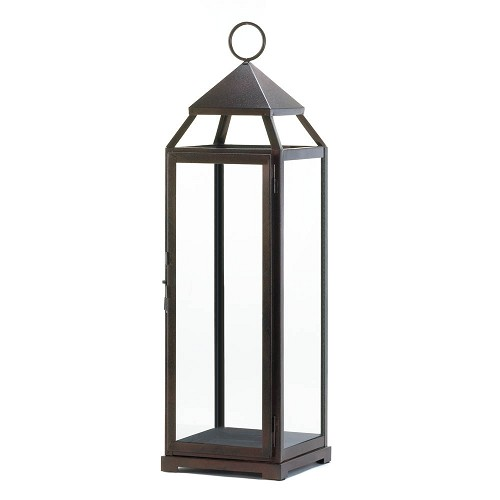 Extra Tall Bronze Contemporary Lantern