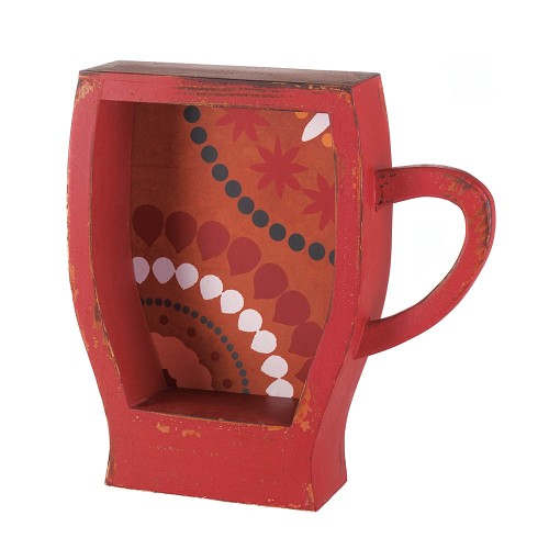 Red Coffee Cup Shelf