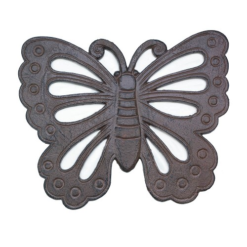 Cast Iron Butterfly Shaped Stepping Stone