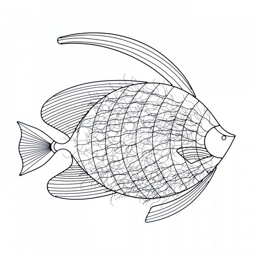 Intricate Fish Wall Decor