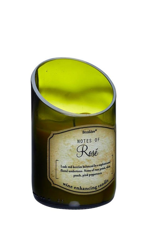 Wine Bottle Rose Scented Candle