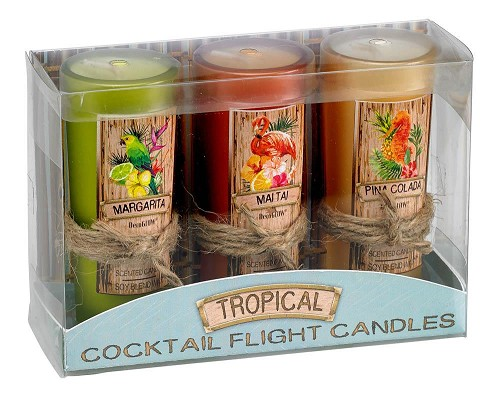 Tropical Cocktail Candle Set