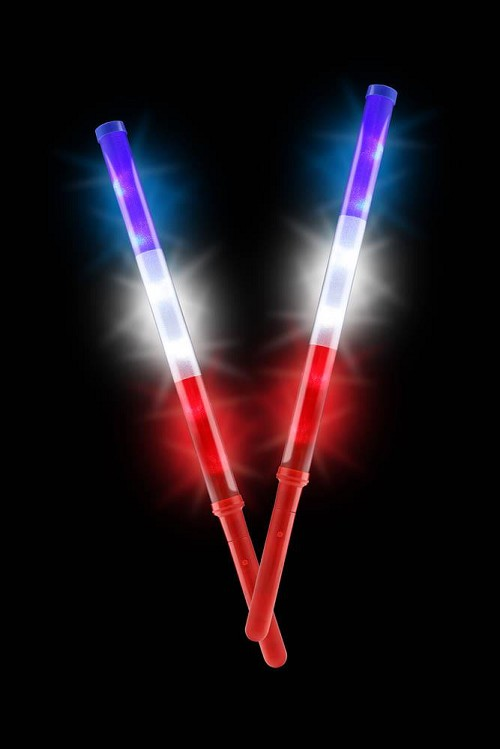 Patriotic Light Up Batons Set Of 2