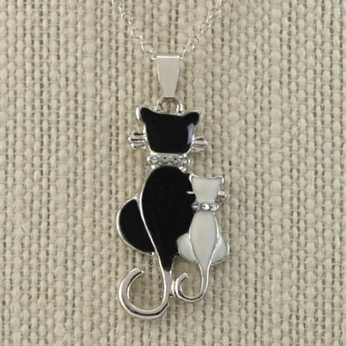 Cat And Kitten Necklace