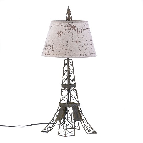 Eiffel tower table lamp sku 15162 home decor lamps eiffel tower table lamp aloadofball Choice Image